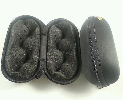 "5"" Black 2 Padded Pouch Hard Carry Case Protective Smoking Pipe Storage Zipper"