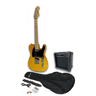 Benson Tl Natural U2 Electric  Guitar Package  Amplifier Pack * Free Delivery *