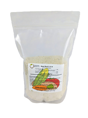 2 LB Organic Bone Meal 3-15-0 Plus 24% Calcium Great for Blooms & Roots Growth