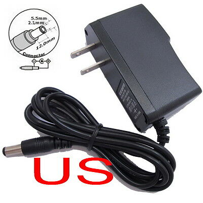 AC Converter Adapter DC 5V 300mA Power Supply Charger US DC 5.5mm x 2.1mm 0.3A