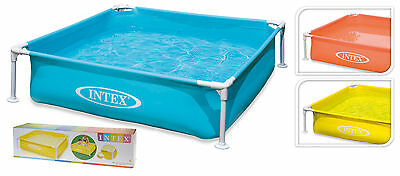 Intex Paddling Pool Kids Swimming Pools Childrens Play Pool with Frame 3 Colours