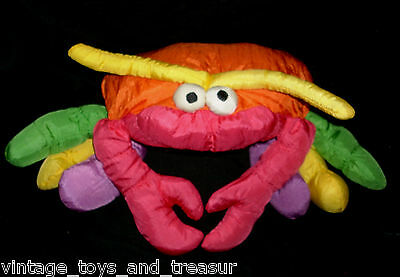 "16"" Vintage 1991 Commonwealth Hot Puffs Nylon Crab Stuffed Animal Plush Toy M"