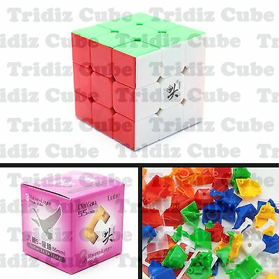 3x3x3 Stickerless Dayan Zhanchi V5 55mm Speed Cube puzzle smooth - US SELLER -