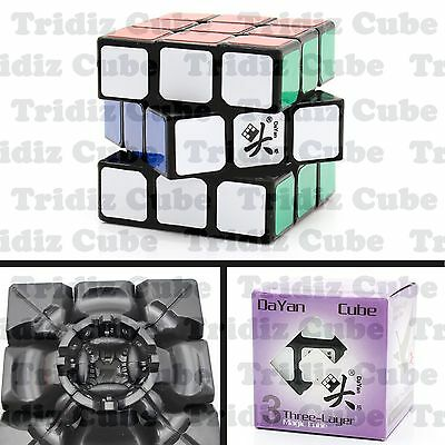 3x3x3 Black Dayan Zhanchi V5 57mm Speed Cube puzzle smooth New - US SELLER -