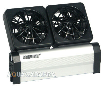 Hobby Aqua Cooler V2 Fans 2Pk Marine Reef Tropical Fish Tank Aquarium Cooling