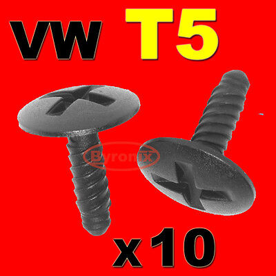 Vw T5 Engine Headlight Battery Cover Trim Screw In Clips Retainer Transporter