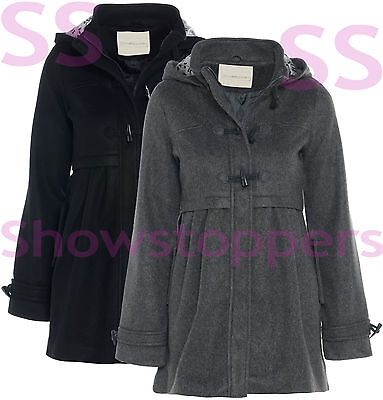 WOOL TYPE NEW AGE 7 8 9 10 11 12 13 GIRLS JACKET COAT HOODED Lined Girl CLOTHING