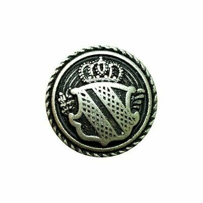 Silver Metal Military Shield Blazer Buttons - 4 sizes - Free UK 1st Class P&P