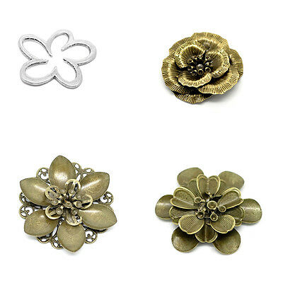 10PCs Hot Flower Connector Embellishments Jewelry Making M1337