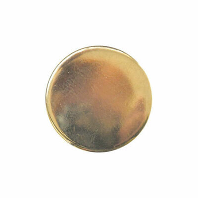 Flat Plastic Gold Blazer Buttons - 3 Sizes 15mm, 18mm, 20mm - With Shank