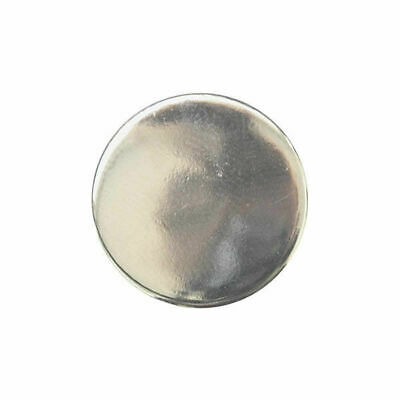 Flat Plastic Silver Blazer Buttons - 3 Sizes 15mm, 18mm, 20mm - With Shank