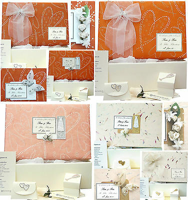 LARGE Wedding Keepsake Memory Box 4 Orange Designs PERSONALISED 4 Motifs +Extras