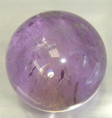 Clear Amethyst Crystal Sphere - 23 mm  (17.4 g) - Untreated Natural Stone