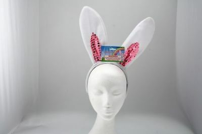 24 x Bunny Ears with sequins 19.5cm 2 asstd Easter rabbit Bulk wholesale lot