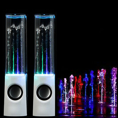 White LED Light Water Dancing Speakers Show Music Fountain for Phones Computer