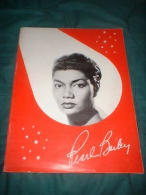 50S PEARL BAILEY REVUE BLACK NEGRO AFRICAN AMERICAN SINGER BIOGRAPHICAL PROGRAM