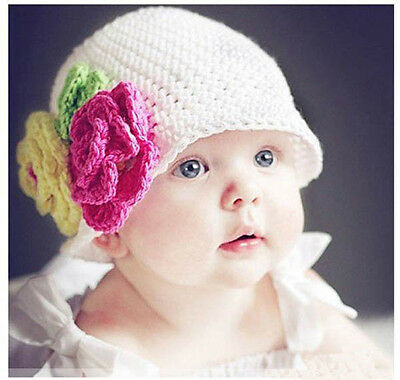 FASHION BORE Baby Boy Girl Crochet Animal Beanie Costume Hat 0-12M Photo Props
