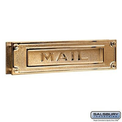 Salsbury Mail Slot - Deluxe - Solid Brass - Brass Finish-MAILBOX 4075B NEW