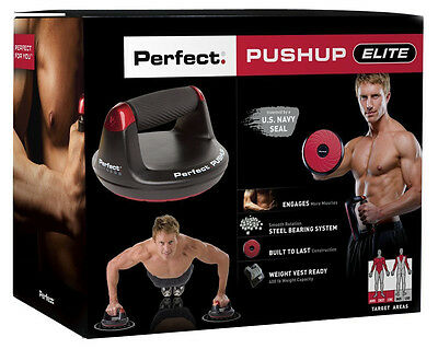 Perfect V2 Pushup Elite Maximum Strength Training Push Up Bars Exercise Fitness