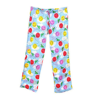 Peace Frogs Smiley Ballon X-Large  Adult Pj Bottoms