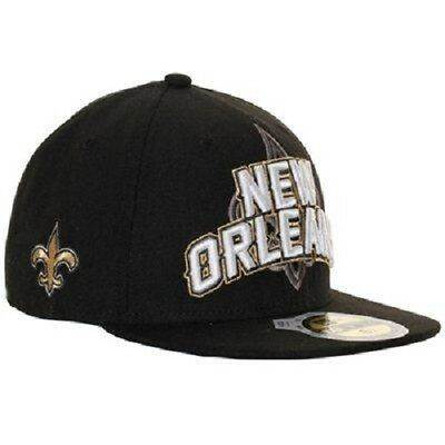6fc83f7a NEW ORLEANS SAINTS NFL Draft Night Hats New Era 59Fifty Fitted Hat Authentic