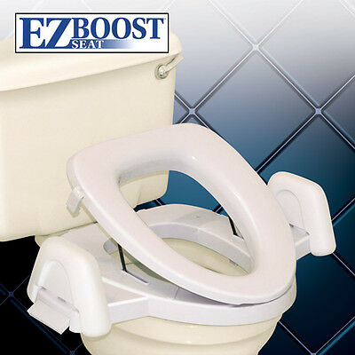 EZ Boost Toilet Seat Assist Lifting Chair Positioning Aid Helper Riser Lower NEW