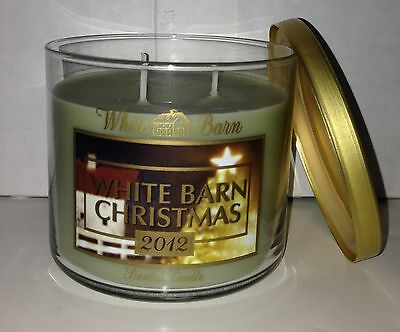 1 Bath & Body Works White Barn CHRISTMAS 2012 Scented Candle 14.5 oz 3 Wick