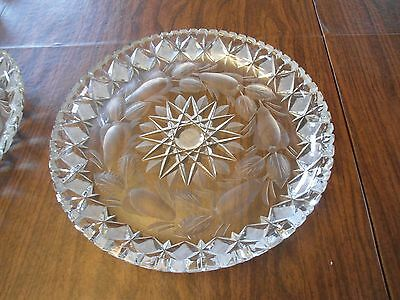 """IMPERLUX  Crystal Hand Cut Glass Plate Platter 11 1/2"""" Germany"""