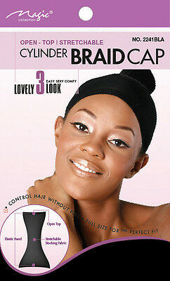 Magic Collection Cylinder Braid Cap Open-Top Stretchable #2241BLA***
