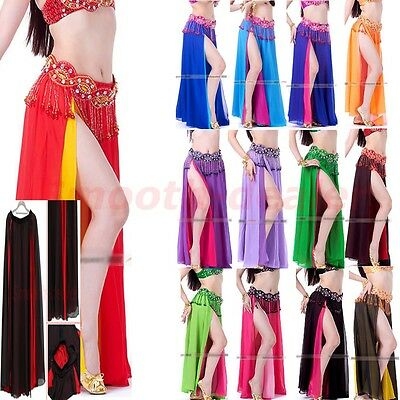 13 colors Professional Sexy Belly Dance Costume Dance Skirt Chiffon Dress