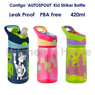 Contigo AUTOSPOUT Kids Striker Water Bottle Mug, Leak Proof, BPA Free, OZ Stock