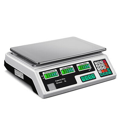 Digital Scale Deli Meat Food Price Computing Retail 60LB Fruit Produce Counting