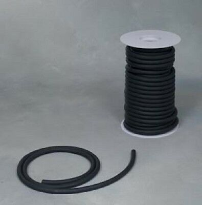 "50 Continuous Feet 1/8""ID x 1/32 x 3/16"" OD Natural Black Latex Rubber Tubing"