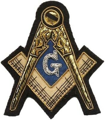 Masonic Master Mason Emblem Bullion Patch Hand Embroidered (Me-045)