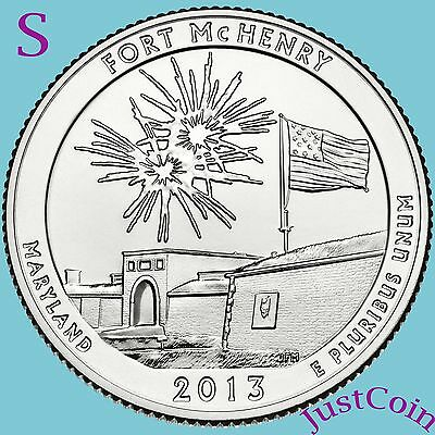 2013-S FORT McHENRY QUARTER NATIONAL MONUMENT UNCIRCULATED FROM MINT ROLL