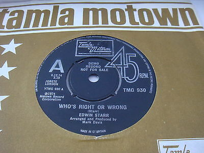 EDWIN STARR-Who's right or wrong/Ain't it hell up in Harlem