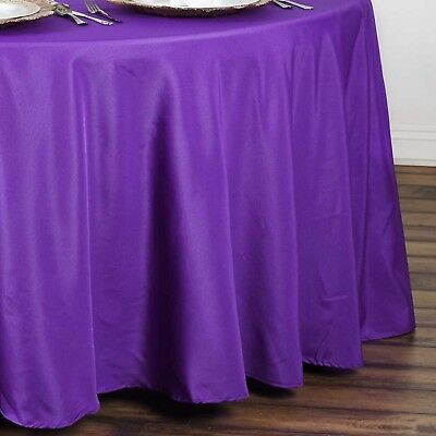 "10 PURPLE 90"" ROUND POLYESTER TABLECLOTHS Wholesale Tabletop Decorations SALE"