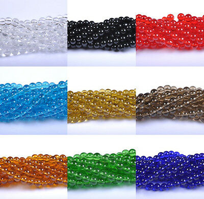 20-100pcs 4MM 6MM 8MM 10MM 12MM Top Quality Czech Glass Round Spacer Loose Beads