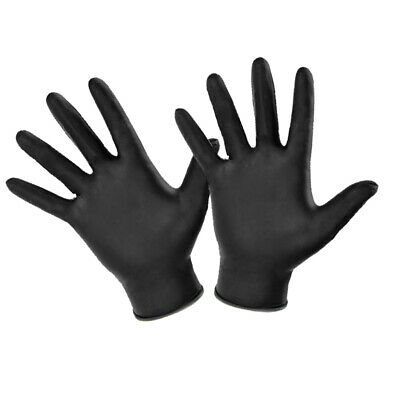 BLACK NITRILE DISPOSABLE GLOVES POWDER FREE - Single Pairs Available