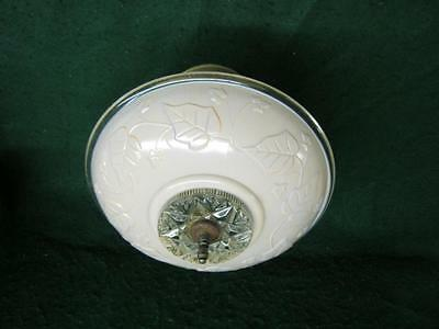 1920's Antique Ceiling Light Fixture Deco Pressed Glass Peach # 2231-13