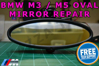 BMW E46 M3 & E39 M5 Oval Rear View Mirror Auto-Dimming Glass Cell REPAIR SERVICE