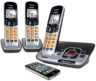 Uniden Dect 3136Bt+2 Cordless Bluetooth Phone & Answering Machine 3 Handsets