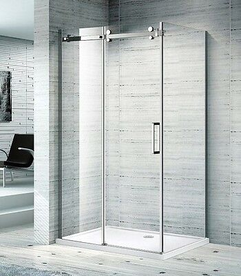 Clearance Melbourne 900x1200x2000mm 10mm thick Semi Frame Shower Screen