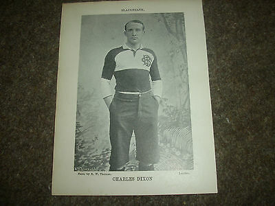 OLD WESTMINSTERS & BLACKHEATH Original c1890's Rugby Union Bookplate Player Pics