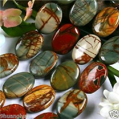 """13x18mm Multi-color Picasso Jasper Oval Loose Beads 15"""""""