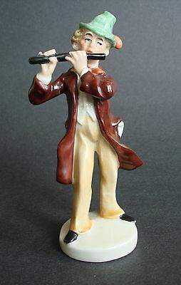German Porcelain Musical Figurine Man Playing Flute, Carl Scheidig Grafenthal