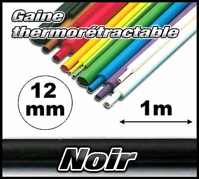 GN12-1# gaine thermorétractable noir 12mm 1m