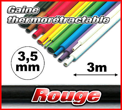 GR3.5-3# gaine thermorétractable rouge 3,5mm 3m ratio 2/1  gaine thermo
