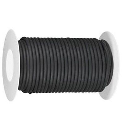 "3/16"" I.D x 1/32"" W x 1/4"" O.D >>  50 FOOT REEL  LATEX RUBBER TUBING BLACK"