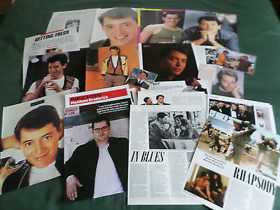 Matthew Broderick - Film Star- Clippings-Cuttings Pack